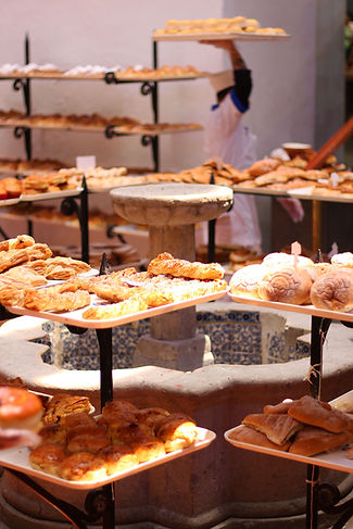 Mesas de pan dulce