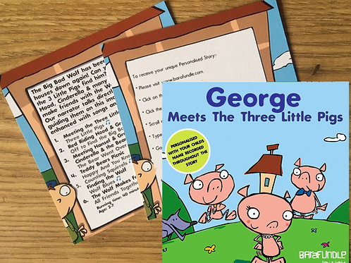 George Meets The Three Little Pigs - Voucher