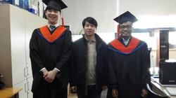 2016년도 졸업식 박사 졸업: 임 웅  석사 졸업 및 박사 입학: 이스마일  석사 졸업: 김영웅, 목정수, 임정윤