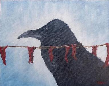 503_Raven_with_Prayer_Flags.jpg
