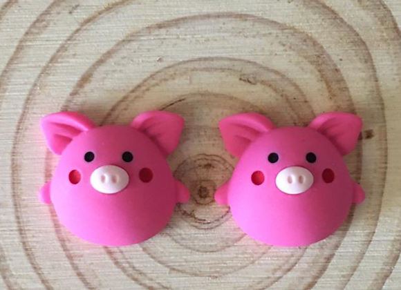 Pig stud earrings
