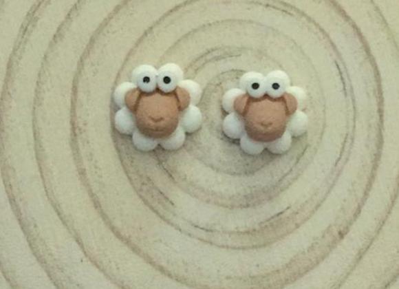 Small sheep earrings