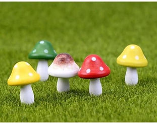 Pack of Wooden Toadstools