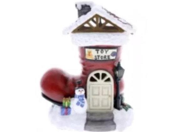 Christmas Santa shoe house