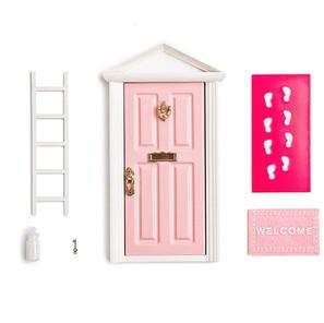 Pink fairy door set
