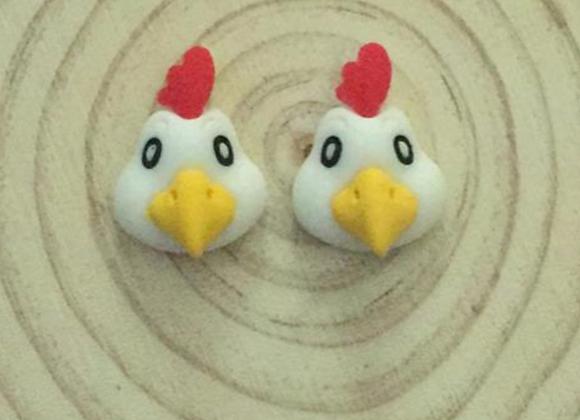 Chicken stud earrings