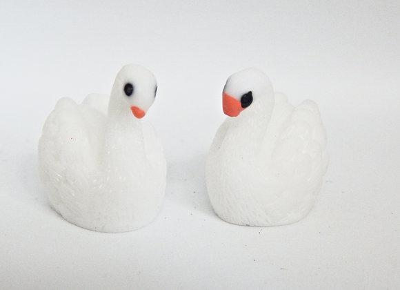 Fairy Garden Pair of Swans