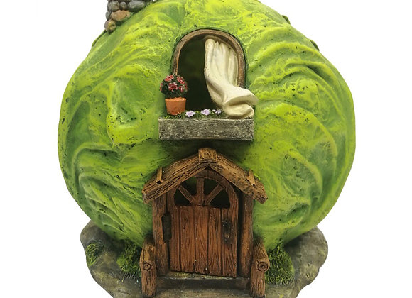 Fairy garden cabbage house