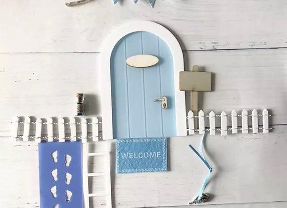 Blue fairy door starter set