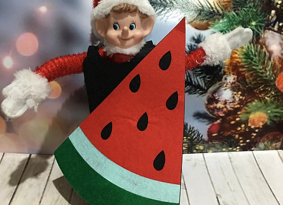 Watermelon slice elf costume