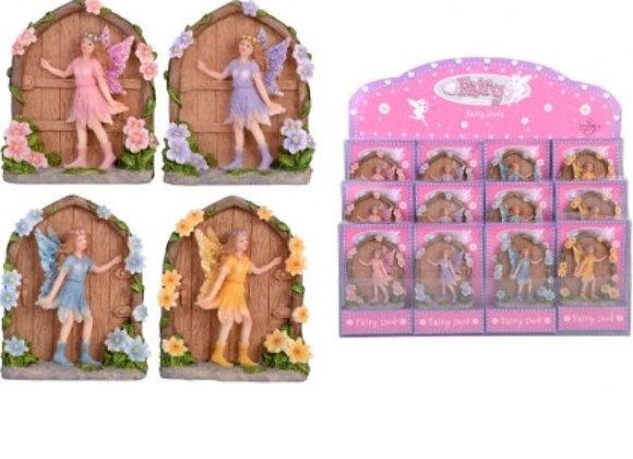 Fairy garden door with fairy