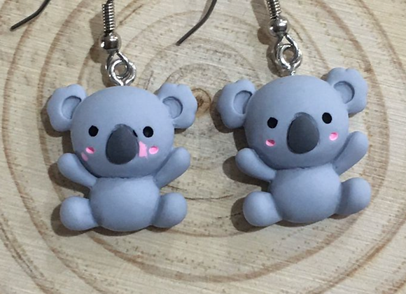 Koala dangle earrings