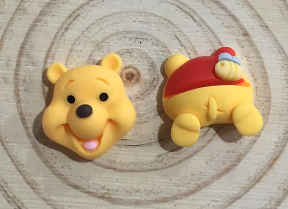 Pooh bear stud earrings
