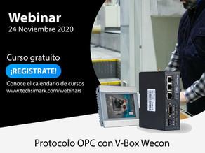 Registrate a nuestro Webinar: PROTOCOLO OPC CON V-BOXMartes 24 de noviembre
