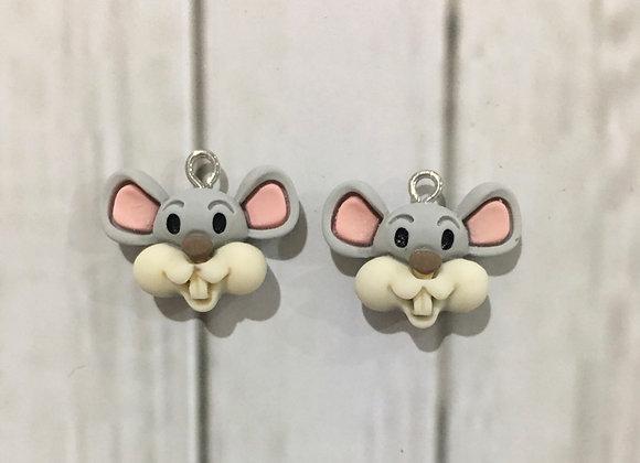 Mice dangle earrings