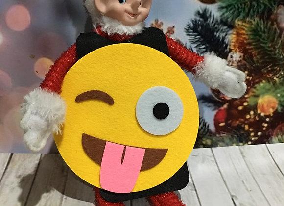 Emoji face elf costume