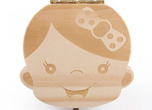 Wooden Baby Teeth Keepsake Box