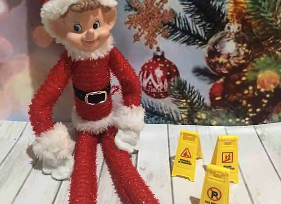 Elf sized safety signs random