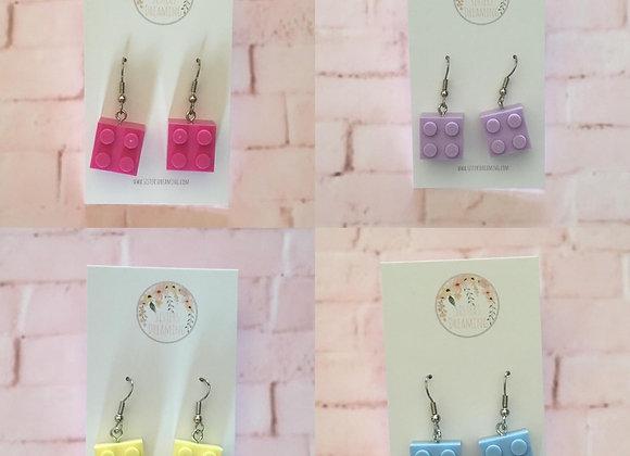 Build block earrings