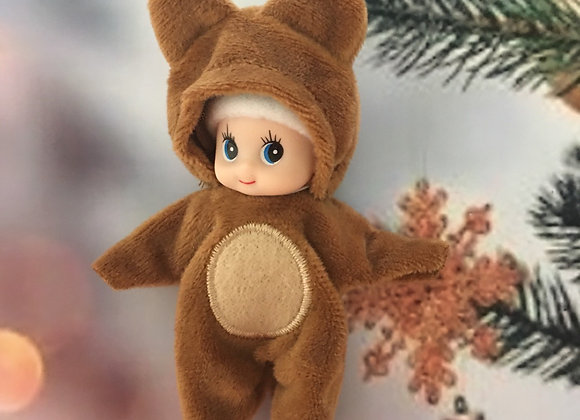 Toddler elf oversized bear onesie