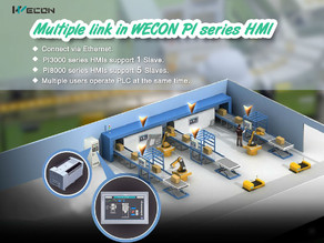 Multiple link in WECON PI Series HMI