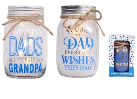 Dads light up jars
