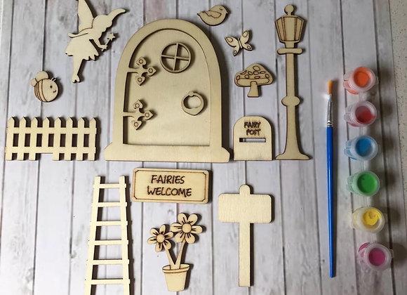 Magical paint your own fairy door kit