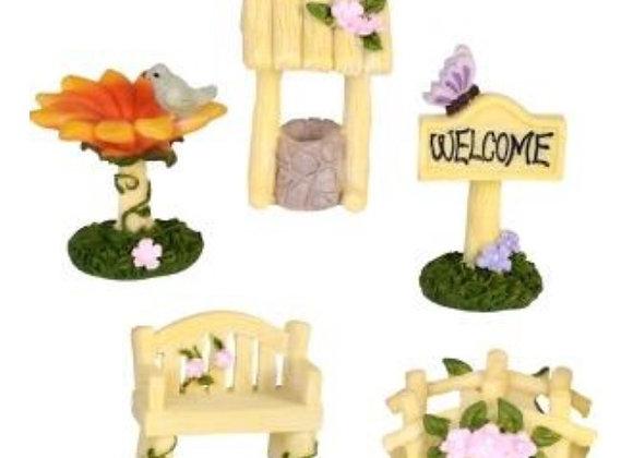 5 piece fairy garden starter kit