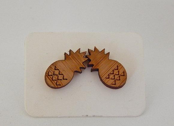 Laser Cut Pineapple Earrings