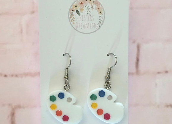 Paint pallet earring