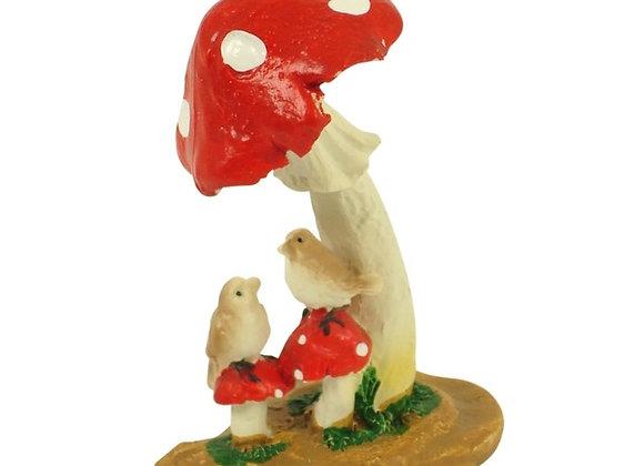 Mushroom with birds