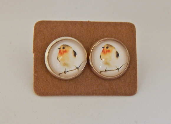 Robin Glass Dome Earrings