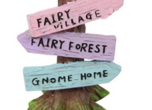 Fairy garden directional sign