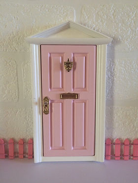 Pink Wooden Fairy Door