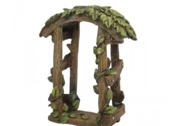 Fairy garden leaf arch