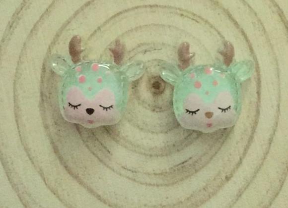 Deer earrings random colours
