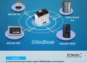 WECON NEW PLC Modules Support Modbus RTU Communication