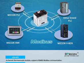 WECON NEW PLC Modules Support Modbus RTU Communication