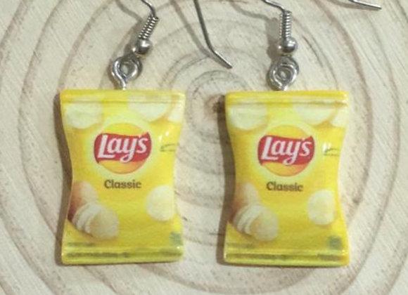 Lay's chips earrings