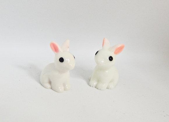 Fairy Garden miniature pair of rabbits
