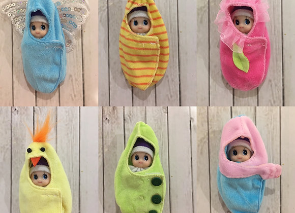 Set of six wraps for baby and toddler elf
