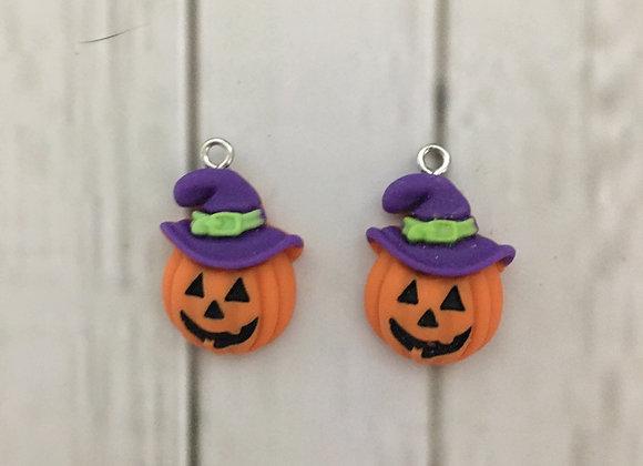 Preorder Halloween pumpkin dangle earrings
