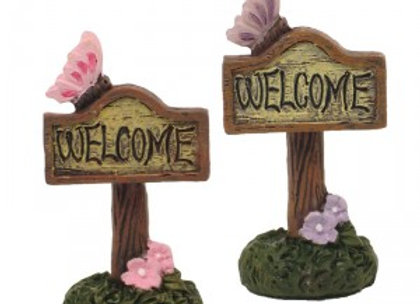Fairy Garden Welcome Sign