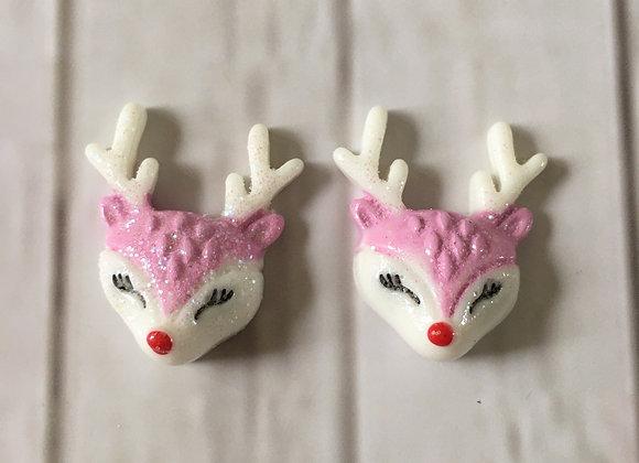 Christmas reindeer stud earrings