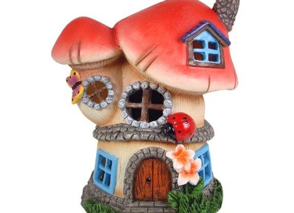 Solar Twin Mushroom Fairy House
