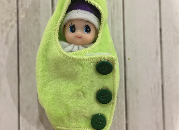 Pea pod wrap for baby or toddler elf