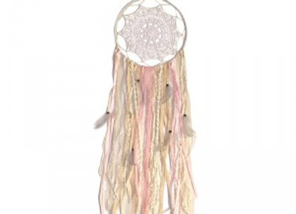 Pink Crochet Dream Catcher
