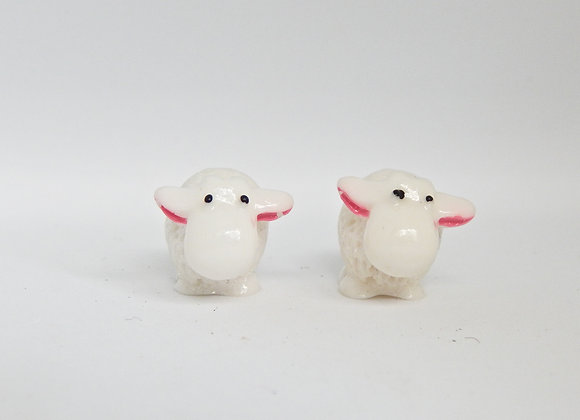 Fairy Garden miniature set of 2 Sheep