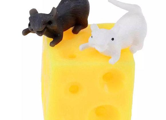 Squishy sensory mice and cheese play set