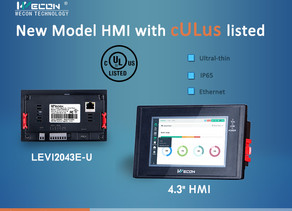 New Model 4.3 inch HMI with UL Certification